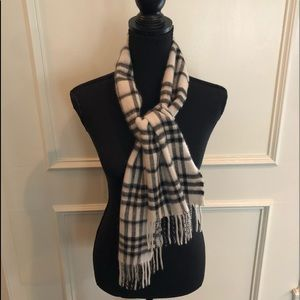 Black&White Cashmere Authentic Burberry Scarf